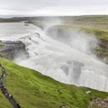 First sight of Gullfoss (summer).- 1-Week Adventure Itinerary for Iceland
