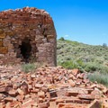 Only buildings remain of Hamilton Ghost Town, the mining town that once held a population of 12,000 people.- Adventuring across Nevada's Highway 50
