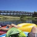 Heading under the first bridge Hat Creek Park.- Hat Creek Float