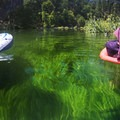 About two-thirds of the way there you will come across this awesome grass under the water.- Hat Creek Float