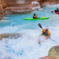 Havasu Creek near its confluence with the Colorado River.- Grand Canyon National Park