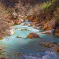 Havasu Creek shows off its sacred beauty.- Grand Canyon National Park