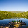 Heart Lake: Relaxing on the dock in the morning.- 10 Amazing Camping Spots in the Adirondacks