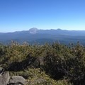 Lassen Volcanic National Park as seen from the north on Magee Peak.- Lassen Volcanic National Park