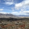 A Great Basin skyline from the trail to East Fork Carson River Hot Springs.- Hot Springs Near Reno and Lake Tahoe
