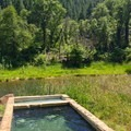 Two spring sources at Feather River Hot Springs, piped into a split tub.- Hot Springs Near Reno and Lake Tahoe