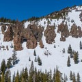 Hole-in-the-Wall backcountry area.- Panorama Dome