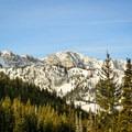 View across Big Cottonwood Canyon on the Scott Hill snowshoe.- Salt Lake City Inversion Survival Kit