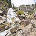 Horsetail Falls in the far southwestern part of the Lone Peak Wilderness, near the towns of Alpine and Highland.- Lone Peak Wilderness