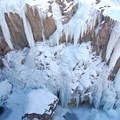 Looking down into the ice park east.- Ouray Ice Park