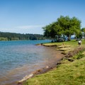 Soggins Valley Park: The shore at Area C.- 31 Best Beaches + Swimming Holes in-and-around Portland, Oregon