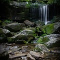 A small waterfall located just before Rainbow Falls. Many times when the flow is high, first time visitors assume that this is Rainbow Falls - it's definitely not...keep going! - Rainbow Falls Trail via LeConte Creek
