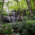 Rainbow Falls. Continue over the bridge to finish up your hike at the LeConte Lodge that sits 4.2 miles above the falls on the Smokies third highest peak - Mount LeConte. - Rainbow Falls Trail via LeConte Creek