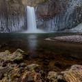 Abiqua Falls in winter.- Oregon's Best Winter Waterfalls