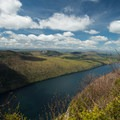 Views looking north at Lake Willoughby from Mount Pisgah.- Dramatic Fjord Formations