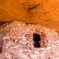 Granary building at Aztec Butte.- Native American Petroglyphs, Pictographs, and Artifacts