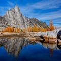 Prusik Peak above Gnome Tarn.- Enchantment Lakes Thru-Hike