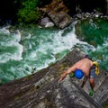 Climbing the 5.9 pitch at the top.- 15 Rock Climbing Destinations That Will Blow Your Mind