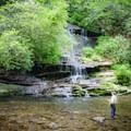 Step into a Smoky Mountain stream and cast all of your worries away!- Kid-Friendly Hikes in Great Smoky Mountain National Park