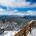 Overlooking Lake Tahoe and the Northstar slopes.- Best Snowshoe Trails in Tahoe's Backcountry