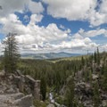 Vista from the Upper Cascades Viewpoint near Kings Creek Falls in Lassen Volcanic National Park.- Exploring California's 9 National Parks