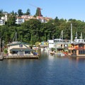 Floating homes along Lake Union.- An Introduction to Stand-up Paddleboarding