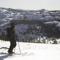 Looking out toward the summit of Donner Peak.- Destination Lake Tahoe: Where Incredible Backcountry Snow Adventures Await