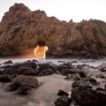 Keyhole Rock at Pfeiffer Beach.- Finding the Perfect Sunrise and Sunset Spots