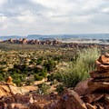 Sweeping vistas from the Klondike Bluffs Trail to Tower Arch.- Arches National Park