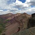 Northeast view toward West Gunsight Peak, Gunsight Peak, and Gilbert Peak.- High Uintas Wilderness