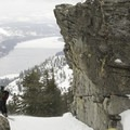 Looking out from one of the summit drop-in options on Lake Run.- The Ultimate Ski Guide to Tahoe's Backcountry