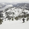 Great views of Donner Lake from the Lake Run.- The Ultimate Ski Guide to Tahoe's Backcountry