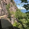 A wooden bridge on the Precipice Trail.- 5 Great American Summer Road Trips