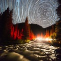 """""""Clear Creek Vortex"""" - Star trails around the North Star, shot from campsite 10 at South Mineral Campground- Nine Tips to Enjoy the Night Sky on National Forests"""