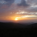 Sunrise from the gap after Tennent Mountain on the Art Loeb Trail.- Finding the Perfect Sunrise and Sunset Spots