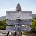 Signage for the Champlain Mountain trail.- 10 of Acadia National Park's Best Day Hikes