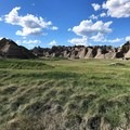 A view of the gorgeous formations that surround Deer Haven.- Badlands National Park