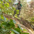 Steep rock rolls at Cypress Mountain.- Mountain Biking in British Columbia