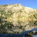 Little Bear Lake reflections.- California's Best Lake Camping