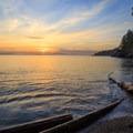 Sunset on the north beach of San Juan County Day Park.- San Juan Islands