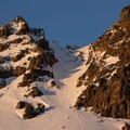 Mount Diller's southwest chute.- Backcountry Skiing the Pacific Crest