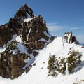 Mount Diller's summit ridge with Mount Shasta (14,197') in view.- Northern California Winter Road Trip