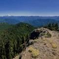 Panoramic view atop Dome Rock.- Dome Rock + Tumble Lake Hike