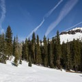 Castle Peak's south aspect rises above the approach trail. - 5 Reasons to Visit Truckee in the Winter