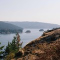 Enjoying the views from Quarry Rock.- Best Day Hikes near Vancouver, B.C.