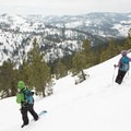 Enoying the view on the lower seciton of Signal Peak.- The Ultimate Ski Guide to Tahoe's Backcountry