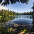 Looking northeast across Soda Peaks Lake.- A 3-day Itinerary for the Gifford Pinchot National Forest