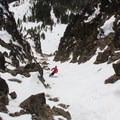 Castle Peak's south couloir.- Backcountry Skiing the Pacific Crest