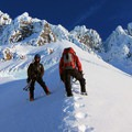 Looking up the Hogsback on Mount Hood.- Mountaineering in the West: 15 Spectacular Summits