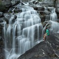 The lowest cascade of Canyon Creek Falls.- California's 60 Best Day Hikes